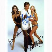 Autografo James Bond Cast di 3 Octopussy 2 Foto 20x25