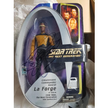 Autografo LeVar Burton Star Trek TNG Geordi La Forge Action Figure