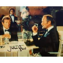 Autografo Julian Glover 007 James Bond Foto 20x30