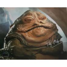 Autografo Toby Philpott Star Wars Jabba 3 Foto 20x25