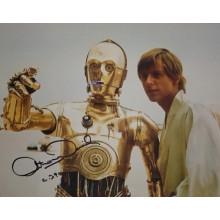 Autografo Star Wars Anthony Daniels 4 -Foto 20x25