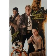 Autografo Star Wars Cast 4 Foto  20x25