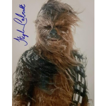 Autografo STEPHEN CALCUTT Star Wars Cewbacca 3 Foto 20x25