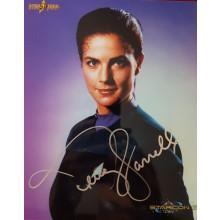 Autografo Terry Farrell Star Trek DS9 2 Foto 20x25