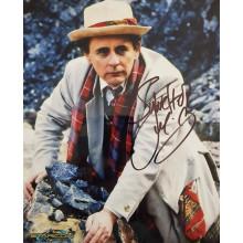 Autografo Sylvester McCoy Doctor Who Foto 20x25