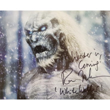 Autografo Ross Mullan Game of Thrones 3 White Walker Foto 20X25