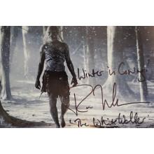 Autografo Ross Mullan Game of Thrones White Walker Foto 20X30