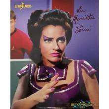 Autografo Lee Meriwether Star Trek 2 Foto 20x25