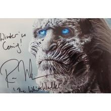 Autografo Ross Mullan Game of Thrones 4 White Walker Foto 20X25