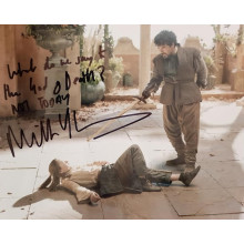 Autografo Miltos Yerolemou Game of thrones 2 Foto 20x25