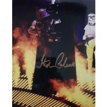 Autografo STEPHEN CALCUTT Star Wars Dath Vader 2 Foto 20x25
