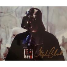 Autografo STEPHEN CALCUTT Star Wars Dath Vader 3 Foto 20x25