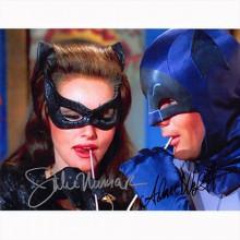 Autografo Adam West & Julie Newmar - Batman Foto 20x25