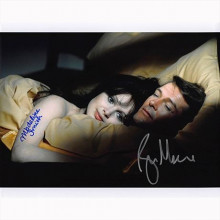 Autografo Roger Moore & Madeline Smith - James Bond Foto 20x25
