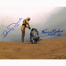 Autografo Star Wars Anthony Daniels & Kenny Baker -  Foto 20x25