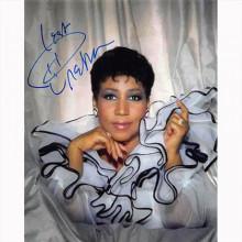Autografo Aretha Franklin Foto 20X25