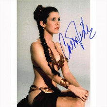 Autografo Star Wars Carrie Fisher  Foto 20x25