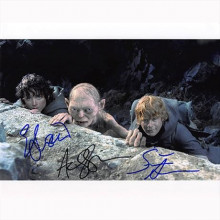 Autografo Lord of the Rings Cast by 3 Foto 20x25