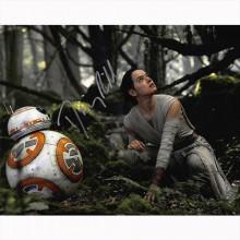 Autografo  Daisy Ridley - Star Wars Foto 20x25