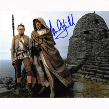 Autografo Star Wars Mark Hamill & Daisy Ridley - Foto 20x25