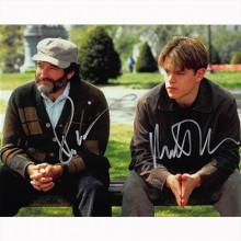 Autografo Robin Williams & Matt Damon - Good Will Hunting Foto 20x25