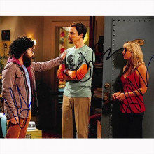 Autografo The Big Bang Theory - Cast  3 Attori Foto 20x25