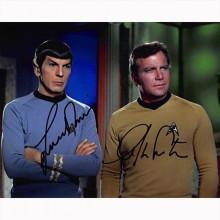 Autografo William Shatner - Leonard Nimoy - Star Trek Foto 20x25