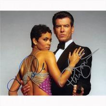 Autografo Pierce Brosnan & Halle Berry - James Bond Foto 20x25