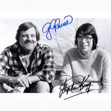 Autografo George A. Romero & Stephen King Foto 20x25