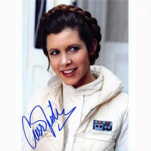 Autografo Carrie Fisher 6- Star Wars Foto 20x25