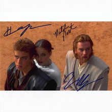 Autogragfo cast Star Wars Attack of the Clones Foto 20x25