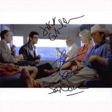 Autografo Jurassic Park Cast Foto 20x25