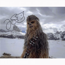 Autografo Joonas Suotamo - Star Wars Solo Cewbacca Foto 20x25