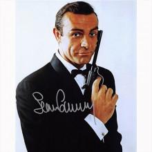 Autografo Sean Connery - James Bond 20x25