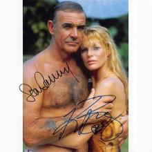Autografo Sean Connery & Kim Basinger - James Bond Foto 20x25
