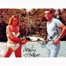 Autografo Sean Connery & Ursula Andress - James Bond Foto 20x25