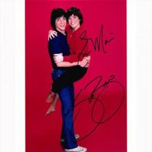 Autografo Scott Baio & Erin Moran - Joanie Loves Chachi Foto 20x25