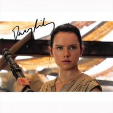 Autografo Star Wars Daisy Ridley 2 -Foto 20x25