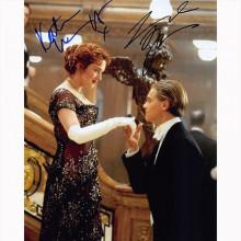 Autografo Leonardo DiCaprio & Kate Winslet - Titanic Foto 20x25