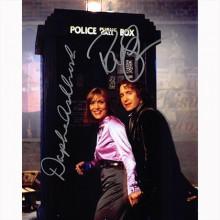 Autografo Paul McGann & Daphne Ashbrook - Doctor Who foto 20x25