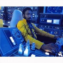 Autografo Donald Glover - Star Wars Solo Foto 20x25