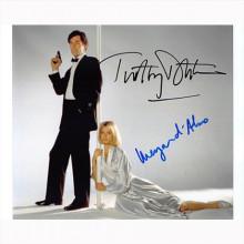 Autografo Timothy Dalton & Maryam d'Abo - 007 James Bond Foto 20x25