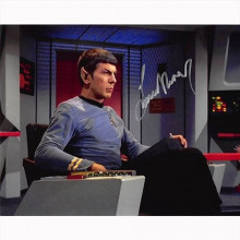 Autografo Leonard Nimoy - Star Trek 5 Foto 20x25