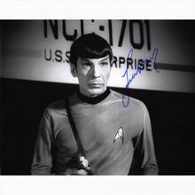 Autografo Leonard Nimoy - Star Trek Foto 20x25