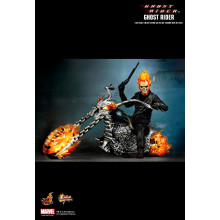 HOT TOYS GHOST RIDER and HELLCYCLE MMS133 MIB 1/6th scale NICHOLAS CAGE