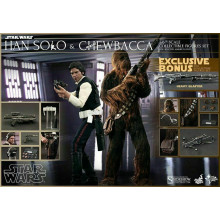 HOT TOYS MMS 263 STAR WARS IV - HANS SOLO E CHEWBACCA