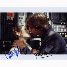 Autografo Harrison Ford & Carrie Fisher - Star Wars Foto 20x25
