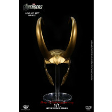 King Arts MPS027 Movie Prop Series Loki Helmet 1/1 Scale Prop Model INSTOCK