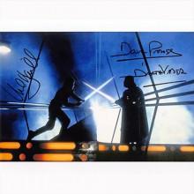 Autografo Mark Hamill & David Prowse - Star Wars 2 Foto 20x25