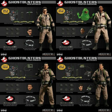 MEZCO ONE 12 COLLECTIVE GHOSTBUSTERS DELUXE BOX SET (4 + SLIMER) 1/12 Action Fig